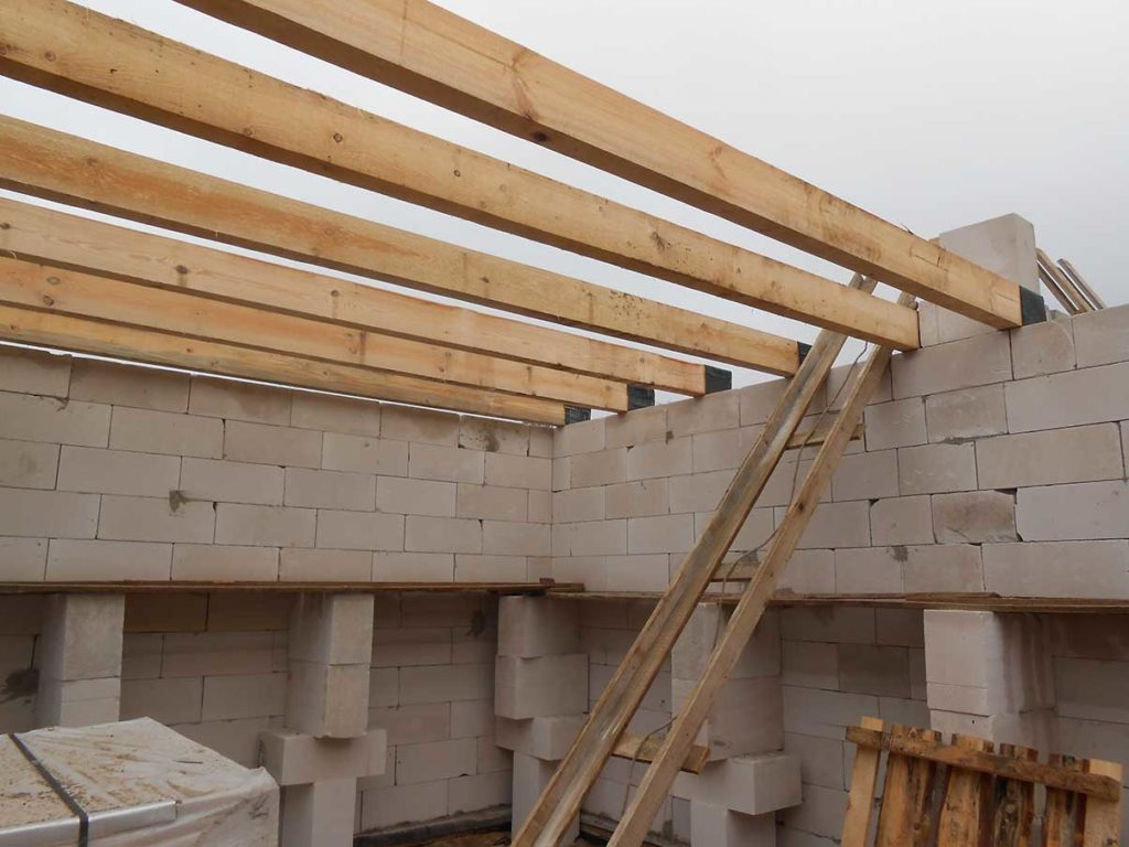 деревянное перекрытие частного дома